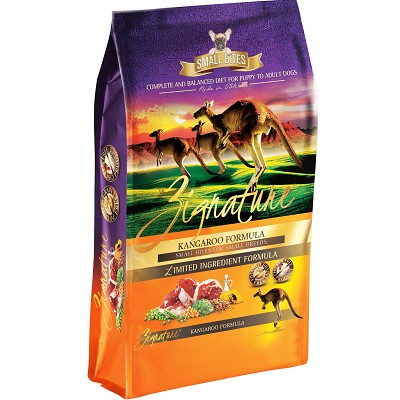 Zignature Small Bites Grain-Free Kangaroo Dry Dog Food, 12-lb Bag