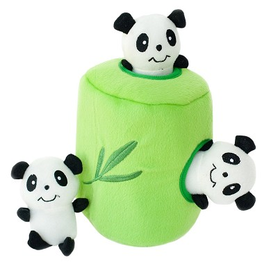 ZippyPaws Burrow Hide and Seek Panda 'n Bamboo Squeaky Plush Dog Toy