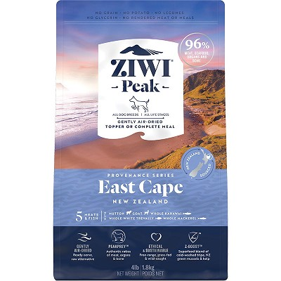 Ziwi Peak Provenance Air-Dried East Cape Recipe Dog Food, 4-lb Bag