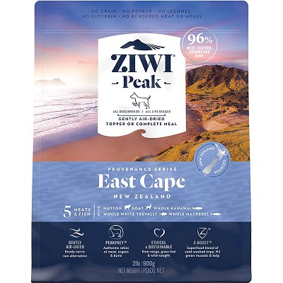 Ziwi Peak Provenance Air-Dried East Cape Recipe Dog Food, 2-lb Bag