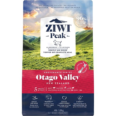 Ziwi Peak Provenance Air-Dried Otago Valley Recipe Dog Food, 4-lb Bag
