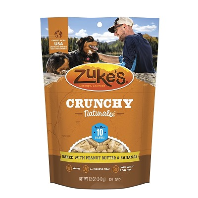 Zuke's Crunchy Naturals 10s Baked With Peanut Butter & Bananas Dog Treats, 12-oz bag