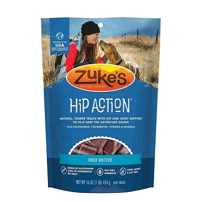 Zuke's Hip Action Beef Recipe Dog Treats, 1 lb