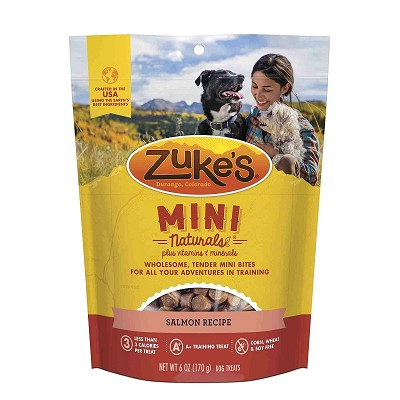 Zuke's Mini Naturals Salmon Recipe Dog Treats, 6-oz Bag