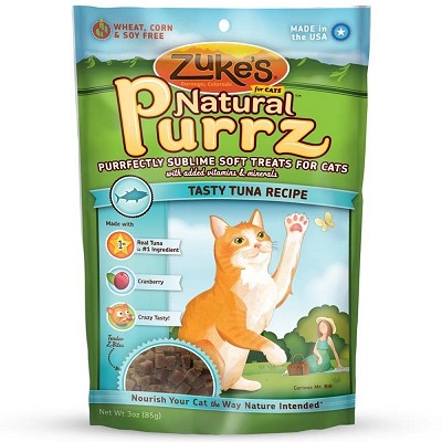 Zuke's Natural Purrz Tasty Tuna Recipe Cat Treats